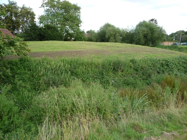 Castle motte and bailey