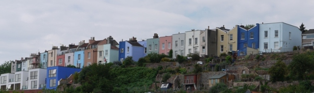 Colourful houses, Clifton (Bristol)