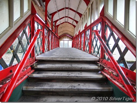 The grand old platform bridge at St Austell