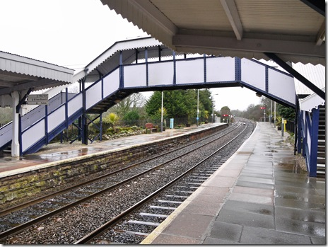 We had nearly an hour to wait on rain-swept St Erth station