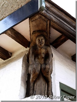 Carved figure, Bull House