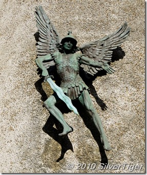St Michael and his wavy sword