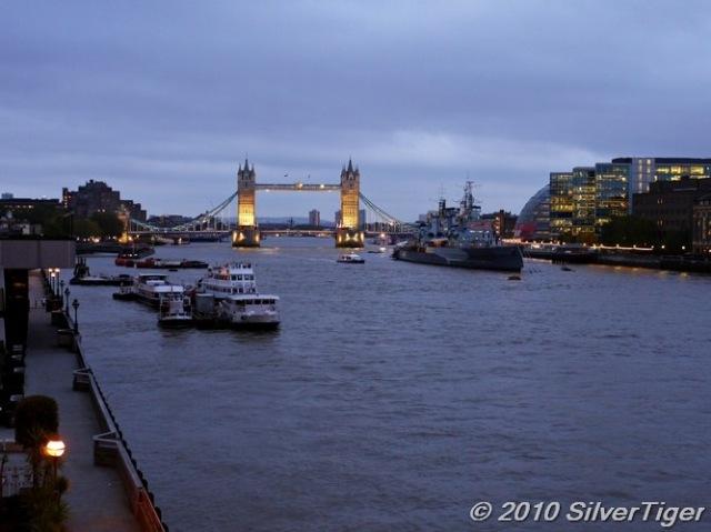 London Bridge: looking downriver towards Tower Bridge