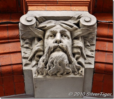 Sculpted face, Lewes Town Hall