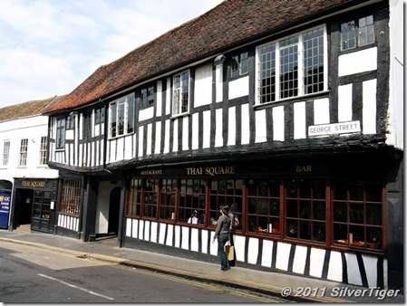 A Thai restaurant in a Tudor building