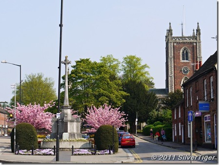 War Memorial and Church of St Peter