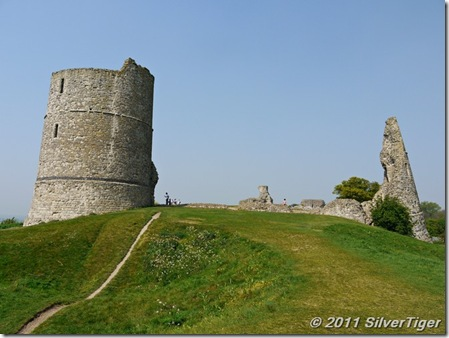 Climbing the castle mound