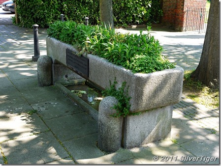 A cattle trough donated by the RSPCA