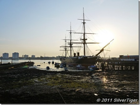 Evening docks and HMS Warrior