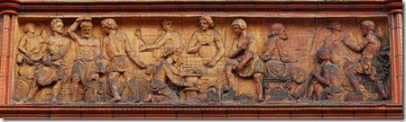 Terra cotta panel, Reading Old Town Hall Museum and Arts Centre