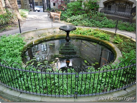 Fish pond and fountain, Postman's Park