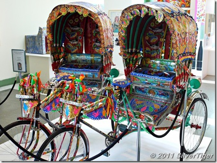 Colourful rickshaws painted by Tapan Das
