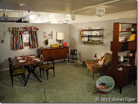 Fifties room interior