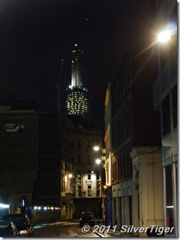 The Shard looms large in the darkness