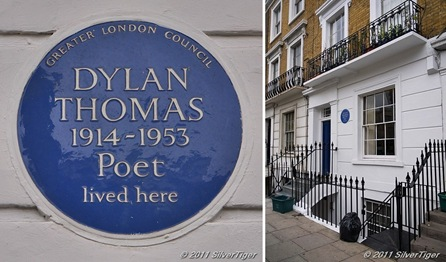 Dylan Thomas lived here