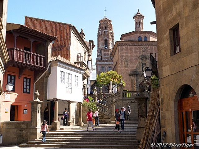 Steps lead up to the Iglesia de las Carmelitas