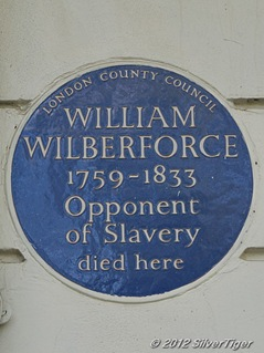 Blue plaque to Wilberforce